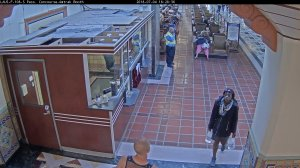 A woman accused of abandoning her young son at Union Station in Los Angeles on July 4, 2018, is seen walking through the station in this image released by the Los Angeles County Metropolitan Transportation Authority the following day.