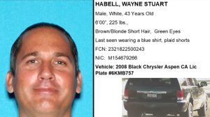 Wayne Stuart Habell and his truck are shown in photos released by the Los Angeles County Sheriff's Department on Aug. 16, 2018.