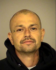 Mario Gaona, 38, of Oxnard is pictured in a booking mug following his arrest in Saticoy on Aug. 24, 2018. (Credit: Ventura County Sheriff's Office)