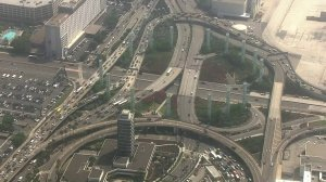 Traffic into LAX remained backed up nearly three hours after a man was found to have weapons that turned out to replicas on Aug. 17, 2018. (Credit: KTLA)