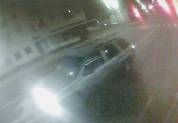 Los Angeles police released this photo showing the suspect vehicle in a hit-and-run in the Westlake district on Aug. 10, 2018.