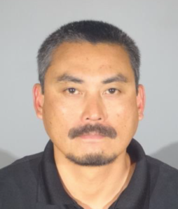 Sherwin Mendoza Espinosa, 43, is seen in a booking photo released Aug. 22, 2018, by Santa Monica police.