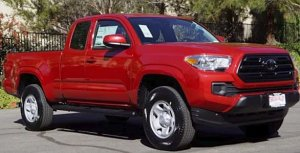 A truck similar to the one being sought is seen in an image provided by the Los Angeles County Sheriff's Department.