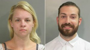 Maxine Feldstein, left, and Nicholas Lowe are seen in photos released Aug. 17, 2018, by the Washington County Sheriff's Office.