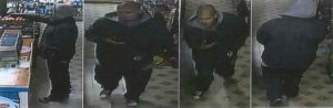 El Monte police are seeking the man pictured in this surveillance photo in connection with an armed robbery at Ace Liquor, 3333 Tyler Ave. in El Monte, on Aug. 5, 2018.