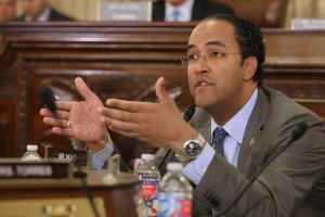 Rep. Will Hurd (R-TX), a member of the House Homeland Security Committee at the time, asks questions about worldwide threats to the United States during a hearing in the Cannon House Office Building on Capitol Hill on Oct. 21, 2015, in Washington, D.C. (Credit: Chip Somodevilla/Getty Images)