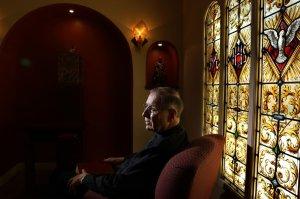 An undated photo shows Cardinal Roger Mahony at the Charles Borromeo parish in North Hollywood. (Credit: Christina House / Los Angeles Times)