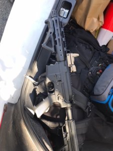 One of the firearms seized during the search of an Oxnard home on Sept. 19, 2018, is pictured here. (Credit: Ventura County Sheriff's Office)