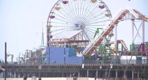 The Santa Monica Pier is seen on Sept. 20, 2018. (Credit: KTLA)