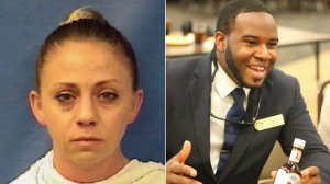 Amber Guyger, left, and Botham Jean, right.