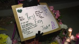 Mourners gathered Saturday at Pacific High School in San Bernardino to remember 14-year-old Jade Maldonado, who was struck and killed by a hit-and-run driver while on her way to school on Sept. 28, 2018.