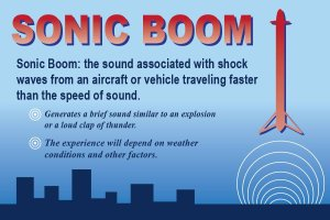 A graphic explaining sonic booms, provided by Vandenberg Air Force Base ahead of a planned SpaceX launch on Oct. 7, 2018.