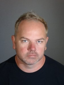 Andrew Bueno Potts, 43, of Long Beach, pictured in a booking photo following his arrest by the Long Beach Police Department on Oct. 23, 2018.