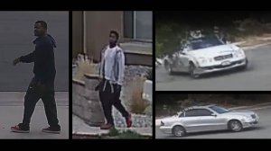 Corona police are seeking the men pictured in this surveillance camera image in connection with a home-invasion robbery in the 1400 block of J.T. Eisley Drive on Oct. 4, 2018.