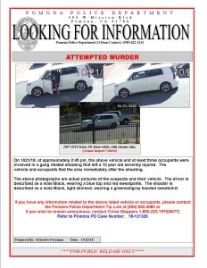 Pomona Police Department wanted bulletin, issued Oct. 23, 2018.