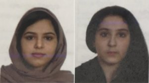 From left: Rotana Farea, 22, and Tala Farea, 16, are seen in undated photos released Oct. 31, 2018, by the New York City Police Department.