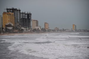 The boardwalk in Mazatlan, Sinaloa state, Mexico, is seen on Oct. 22, 2018, before the arrival of Hurricane Willa. (Credit: Alfredo Estrella / AFP / Getty Images)