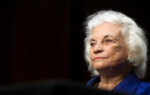 Former Supreme Court Justice Sandra Day O'Connor testifies before the Senate Judiciary Committee on July 25, 2012. (Credit: Karen Bleier/AFP/GettyImages)