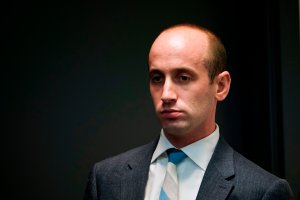 Senior adviser to the president Stephen Miller is seen during an immigration event with President Donald Trump in the South Court Auditorium, next to the White House, on June 22, 2018. (Credit: Mandel Ngan / AFP / Getty Images)