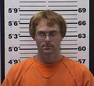 Kyle Jaenke is seen in a booking photo released by the Barron County Sheriff's Department.