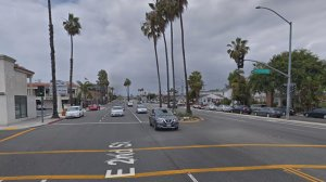 Second Street and Tivoli Drive in Long Beach, as seen in a Google Street View image in May of 2018.