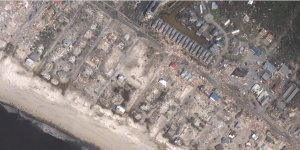 Aerial images show catastrophic devastation in Mexico Beach. (Credit: NOAA via CNN Wire)
