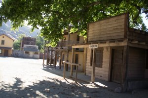 A 2012 photo shows part of the Western Town at Paramount Ranch. (Credit: National Park Service)