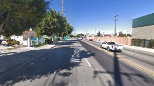 The 1800 block of West Compton Boulevard in Compton, as pictured in a Google Street View image in March of 2018.