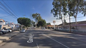 The 10400 block of Garvey Avenue in El Monte, as seen in a Google Street View image in January of 2018.