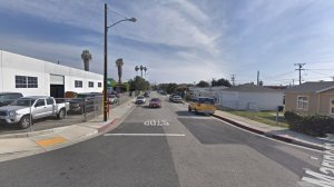 The 13500 block of Mariposa Avenue in Gardena, as pictured in a Google Street View image in April of 2018.