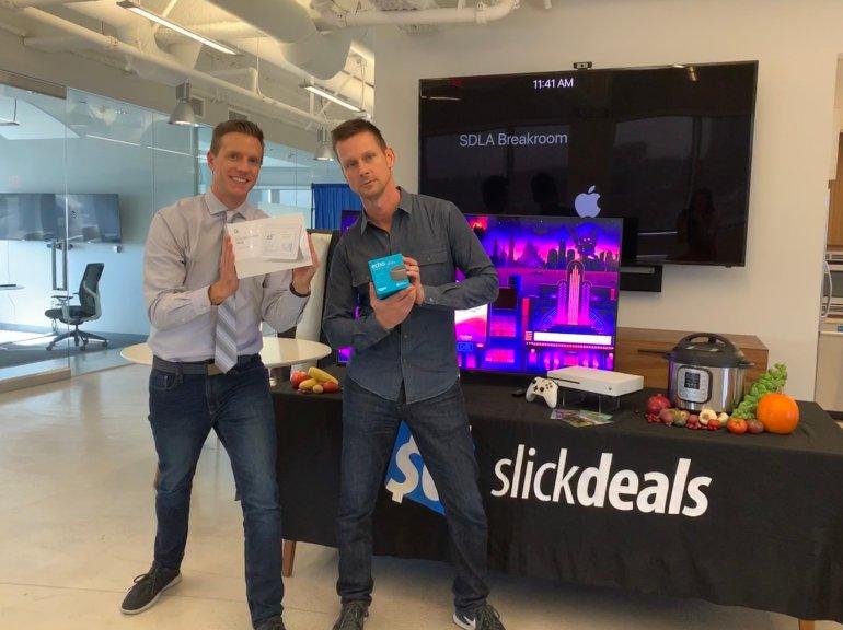 Rich DeMuro with Slickdeals CEO Josh Meyers