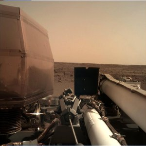 NASA released this image taken by the Insight lander following its touchdown on the Martian surface on Nov. 26, 2018.
