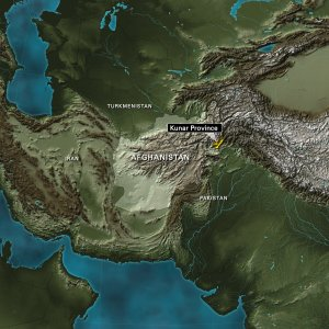 Kunar Province, Afghanistan. Neighboring countries are Pakistan, Iran, and Turkmenistan. (Credit: CNN)