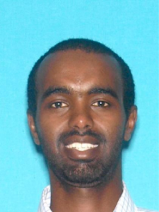 Mohamed Mohamed Abdi is seen in a booking photo released Nov. 26, 2018, by Los Angeles police.