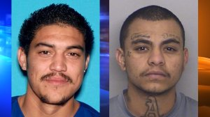 Christian Vargas, 26, of Fontana and Alejandro Torres, 23, of San Bernardino, pictured in photos released by the Fontana Police Department following their arrests on Nov. 17, 2018.