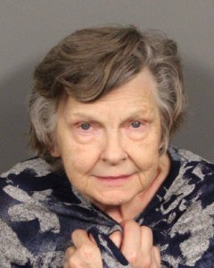 Patricia Elrod, 79, is seen in a booking photo released Dec. 7, 2018, by the La Quinta Police Department.