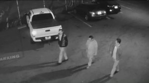 Three men were caught on camera breaking into a juke box at Tony's Saloon in Los Angeles on Dec. 16, 2018.