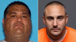 """Documented gang members Fernando """"Grumpy"""" Beltran, left, and Rafael """"Snoopy"""" Solorzano, right, pictured in a wanted flier distributed by the Montebello Police Department on Dec. 21, 2018."""