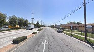 The 14300 block of Carmenita Road in Norwalk, as seen in a Google Street View image in April of 2018.