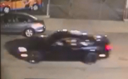 Los Angeles police are seeking this Ford Mustang in connection with a street-racing crash that seriously injuries two young girls at Hoover Street and Florence Avenue in South Los Angeles on Dec. 9, 2018. (Credit: LAPD)