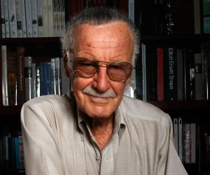 Stan Lee poses for a portrait in Los Angeles in this file photo from 2008. (Credit: Michael Buckner/Getty Images)