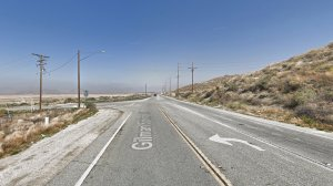 The intersection of Gillman Springs Road and Bridge Street in an unincorporated portion of Riverside County near Moreno Valley as seen in a Google Street View image in May of 2018.