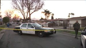 Detectives investigate the death of a woman in the 1300 block of Glenshaw Drive in unincorporated West Puente Valley on Jan. 12, 2019.