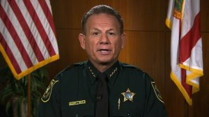 Broward County Sheriff Scott Israel speaks to CNN about the shooting at Marjory Stoneman Douglas on February 25, 2018. (Credit: CNN)