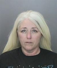 Stefanie Lyn Bieser appears in a booking photo released by Anaheim police on Feb. 10, 2019.