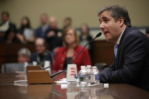 Michael Cohen, former attorney and fixer for President Donald Trump testifies before the House Oversight Committee on Capitol Hill on Feb. 27, 2019. (Credit: Chip Somodevilla/Getty Images)
