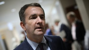 Virginia Democratic candidate for governor, Lt. Gov. Ralph Northam, answers questions while campaigning at the All Dulles Area Muslim Society following Friday prayers November 3, 2017 in Sterling, Virginia. Virginia will elect the next governor of the state next Tuesday, November 7. (Photo by Win McNamee/Getty Images)