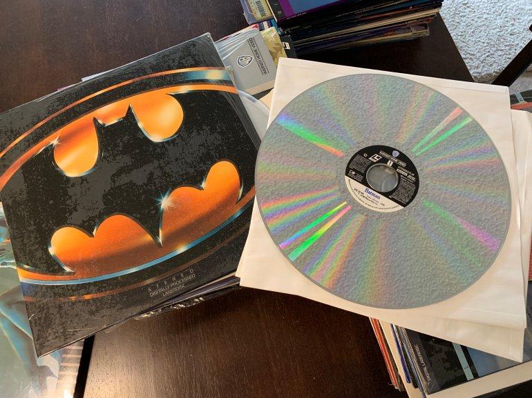 A Batman laserdisc from the 1980s