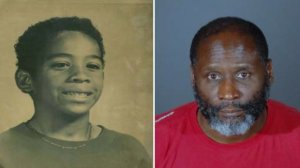 William Tillett, 11, (left) and Edward Donell Thomas, 50, (right) appear in photos provided by the Inglewood Police Department on Feb. 19, 2019.