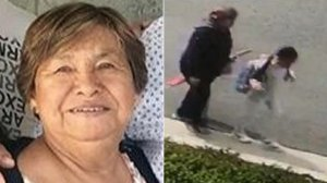 Maria Chavarria is seen, left, in an image posted to a GoFundMe page and, right, alongside her granddaughter shortly before being killed in a hit-and-run in La Mirada on Feb. 20, 2019, in an image released by the Los Angeles County Sheriff's Department.